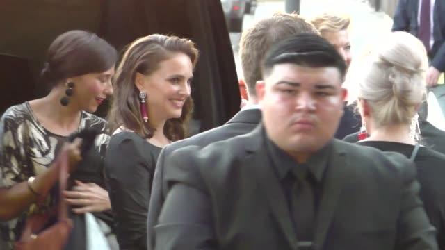 Natalie Portman Rashida Jones Mikhail Baryshnikov outside LA Dance Project in Los Angeles on October 08 2017 at Celebrity Sightings in Los Angeles
