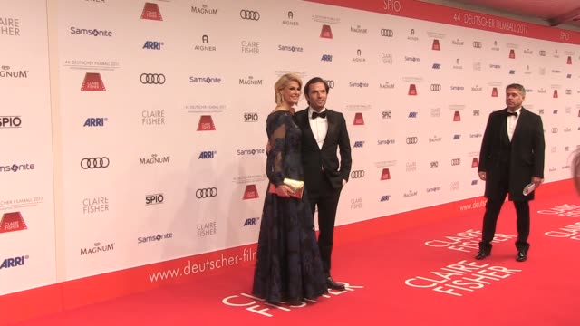 Natascha Gruen and Quirin Berg on the red carpet at Hotel Bayerischer Hof on January 21 2017 in Munich Germany