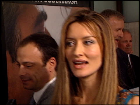 natascha mcelhone at the 'solaris' premiere at the cinerama dome at arclight cinemas in hollywood, california on november 19, 2002. - solaris 2002 film stock videos & royalty-free footage