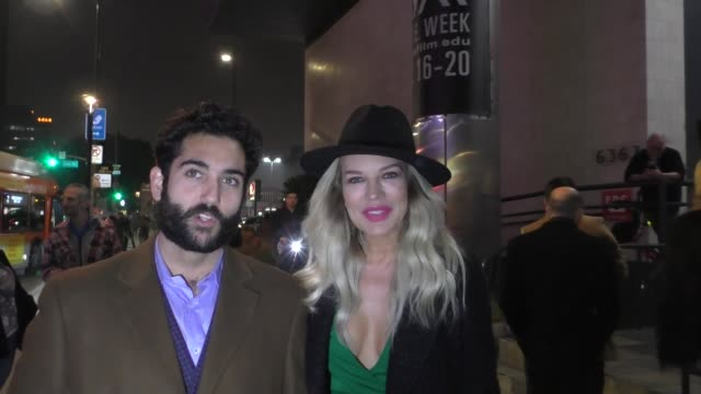 """natasha alam and justin benjamin on mob movies outside the """"mob town"""" premiere at the los angeles film school in los angeles at celebrity sightings... - celebrity sightings stock videos & royalty-free footage"""
