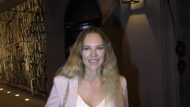 INTERVIEW Natasha Alam talks about her new boyfriend's RV business outside Craig's Restaurant in West Hollywood in Celebrity Sightings in Los Angeles