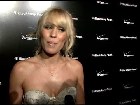 natasha bedingfield on her blackberry pearl, how she'll download her own music to the new blackberry pearl, her new cd, and upcoming projects at the... - electronic organiser stock videos & royalty-free footage