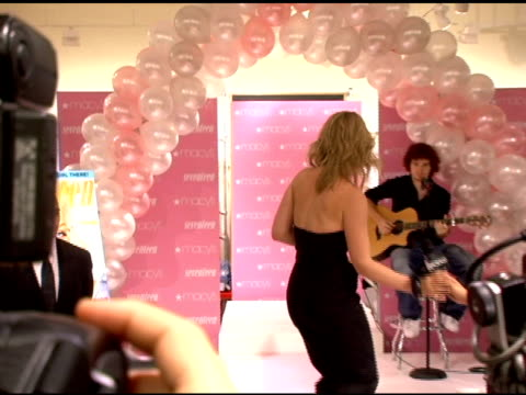 natasha bedingfield performing at the in store performance by natasha bedingfield presented by macy's and seventeen magazine at macys herald square... - natasha bedingfield stock videos & royalty-free footage