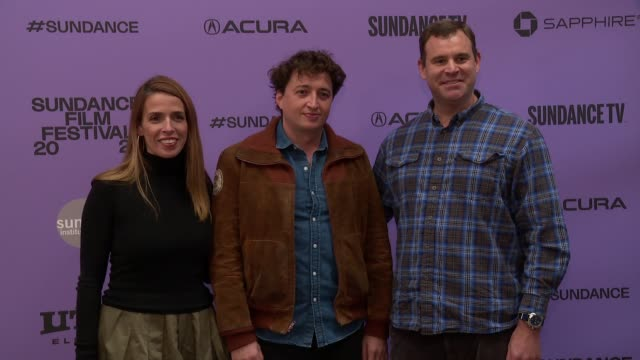 "natasha dolby benh zeitlin david dolby at the ""wendy"" sundance premiere presented by searchlight pictures sundance film festival at eccles center... - sundance film festival stock videos & royalty-free footage"