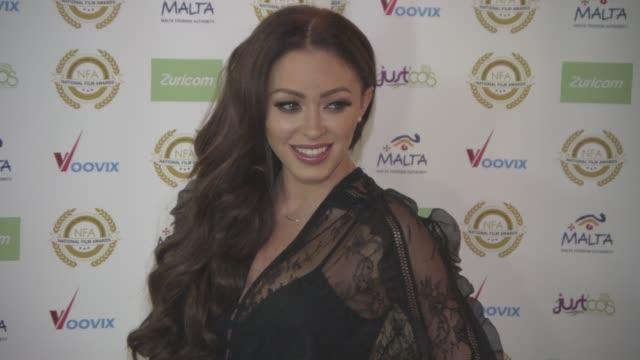 natasha hamilton at national film awards at porchester hall on march 29, 2017 in london, england. - ポーチェスター点の映像素材/bロール