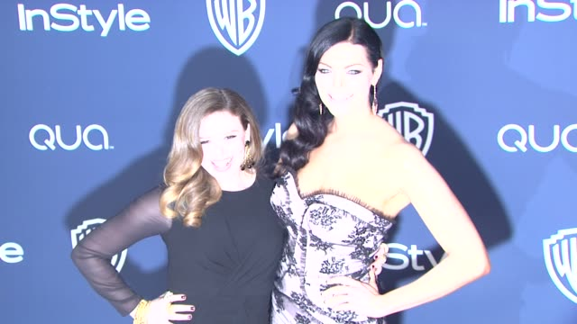 natasha lyonne and laura prepon at 2014 instyle and warner bros. 71st annual golden globe awards post-party at the beverly hilton hotel on in beverly... - the beverly hilton hotel stock videos & royalty-free footage