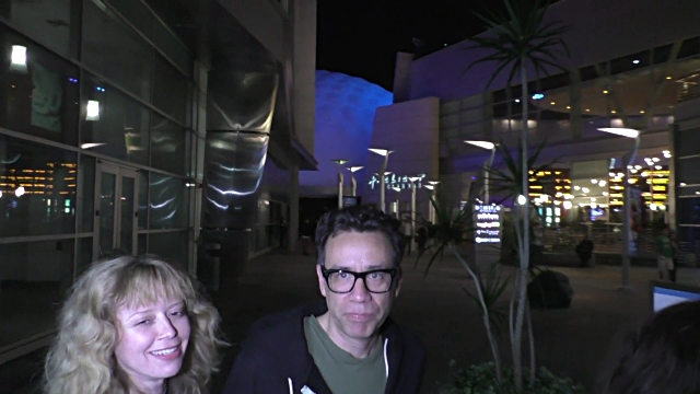 INTERVIEW Natasha Lyonne Fred Armisen talk about playing guitar outside ArcLight Theatre in Hollywood at Celebrity Sightings in Los Angeles on June...