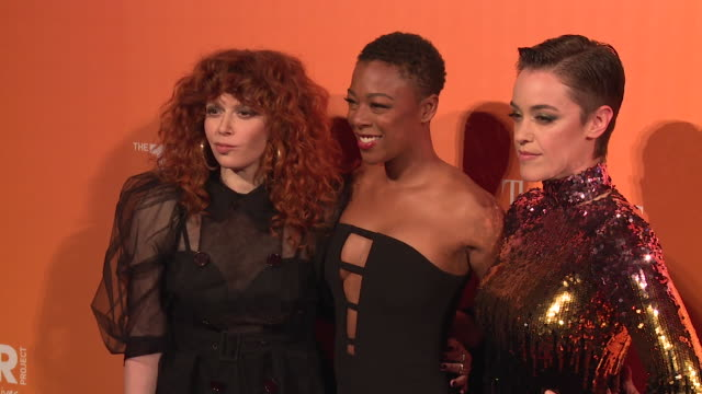 Natasha Lyonne Samira Wiley and Lauren Morelli at The Trevor Project TrevorLIVE NY 2018 at Cipriani Wall Street on June 11 2018 in New York City