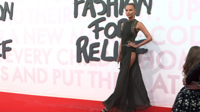 natasha poly at fashion for relief fashion catwalk - the 71st cannes fillm festival at aeroport cannes mandelieu on may 13, 2018 in cannes, france. - カンヌ・マンデリュー空港点の映像素材/bロール
