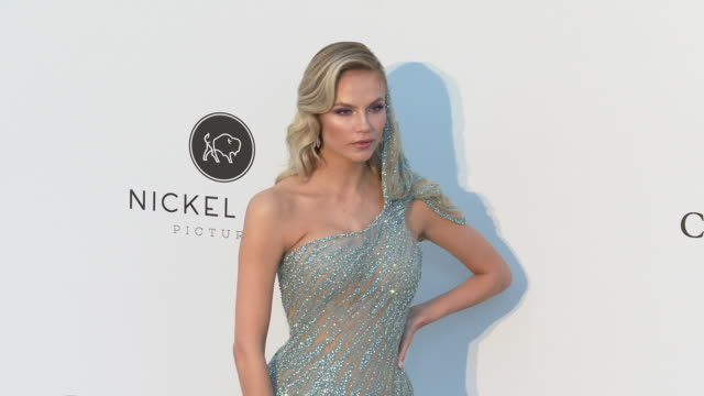 Natasha Poly at the amfAR Cannes Gala 2019 Arrivals at Hotel du CapEdenRoc on May 23 2019 in Cap d'Antibes France