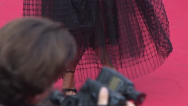 natasha poly, freida pinto, eva longoria at 'saint laurent' red carpet at palais des festivals on may 17, 2014 in cannes, france. - cannes stock videos & royalty-free footage