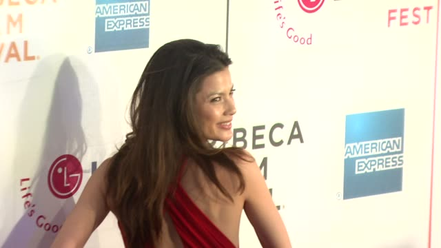 "natassia malthe at the 7th annual tribeca film festival - ""i am because we are"" premiere at borough of manhattan community college / tribeca... - community college stock videos & royalty-free footage"