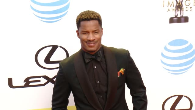 nate parker at 47th annual naacp image awards at pasadena civic auditorium on february 05 2016 in pasadena california - pasadena civic auditorium stock-videos und b-roll-filmmaterial