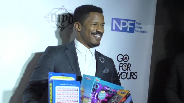 stockvideo's en b-roll-footage met nate parker at 9th annual manifest your destiny toy drive and fundraiser on december 05, 2016 in hollywood, california. - manifest destiny