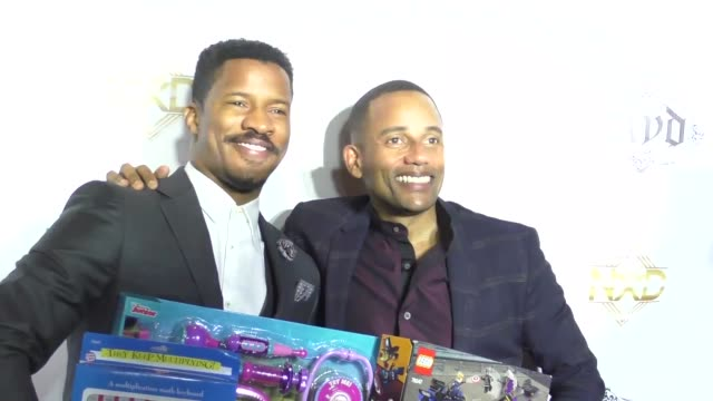 stockvideo's en b-roll-footage met nate parker & hill harper at 9th annual manifest your destiny toy drive and fundraiser on december 05, 2016 in hollywood, california. - manifest destiny