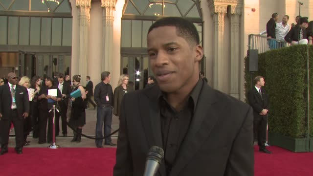 stockvideo's en b-roll-footage met nate parker on the event, the 'secret life of bees', fan feedback at the 35th annual people's choice awards at los angeles ca. - people's choice awards