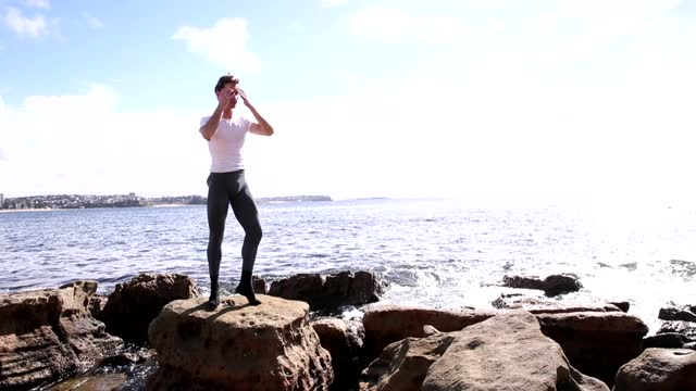 nathan brook poses for a portrait in fairy bower on april 07, 2021 in sydney, australia. nathan brook, a soloist with the australian ballet, has been... - people's choice awards stock videos & royalty-free footage