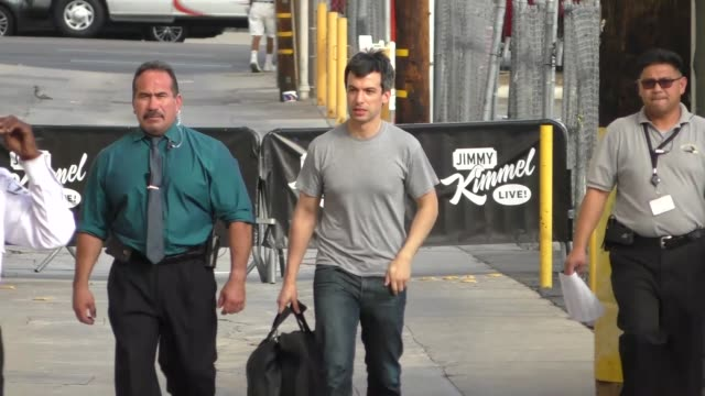 nathan fielder outside jimmy kimmel live in hollywood - celebrity sightings on october 12, 2015 in los angeles, california. - fielder stock videos & royalty-free footage