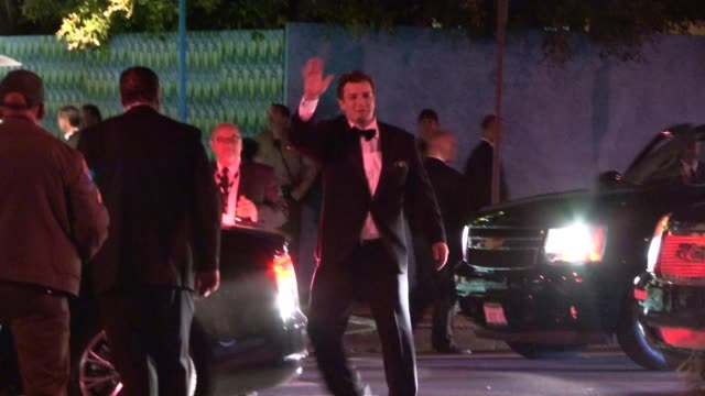Nathan Fillion and Mikaela Hoover depart HBO's Post Emmy Awards party at Pacific Design Center at Celebrity Sightings in Los Angeles Nathan Fillion...