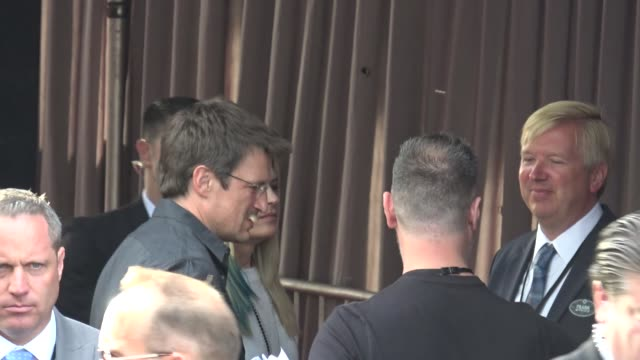 Nathan Fillion arrives at Solo A Star Wars Story premiere at El Capitan Theatre in Hollywood in Celebrity Sightings in Los Angeles