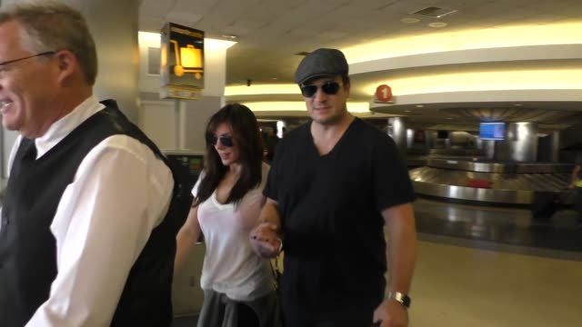 Nathan Fillion arriving at LAX Airport Celebrity Sightings on October 11 2015 in Los Angeles California