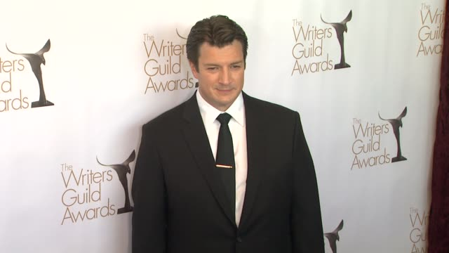 Nathan Fillion at 2013 Writers Guild Awards Nathan Fillion at 2013 Writers Guild Awards at JW Marriot at LA Live on February 17 2013 in Los Angeles...