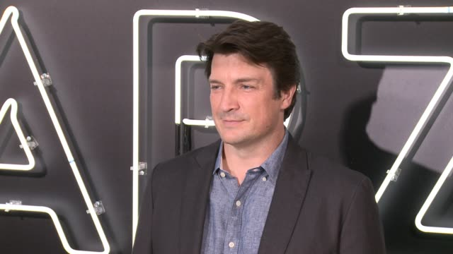 Nathan Fillion at 'American Gods' Premiere in Los Angeles CA
