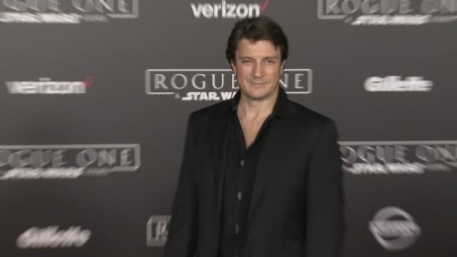 Nathan Fillion at 'Rogue One A Star Wars Story' World Premiere at the Pantages Theatre on December 10 2016 in Hollywood California