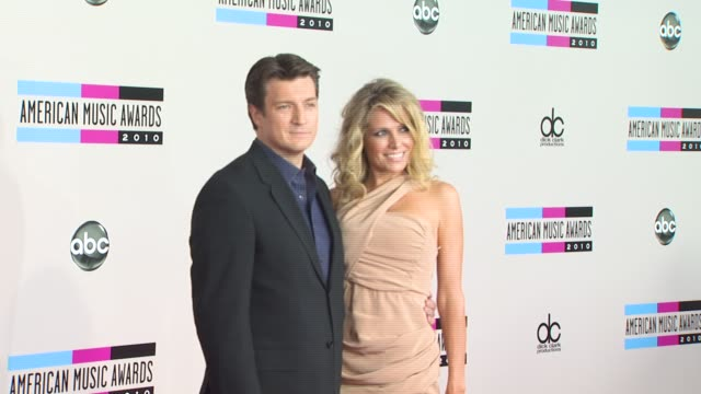Nathan Fillion at the 2010 American Music Awards Arrivals at Los Angeles CA