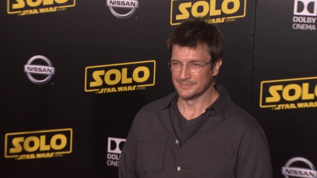 Nathan Fillion at the 'Solo A Star Wars Story' World Premiere at the El Capitan Theatre on May 10 2018 in Hollywood California