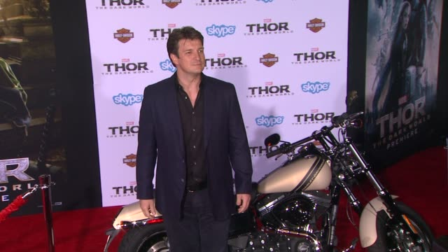 Nathan Fillion at 'Thor The Dark World' Los Angeles Premiere in Hollywood CA on