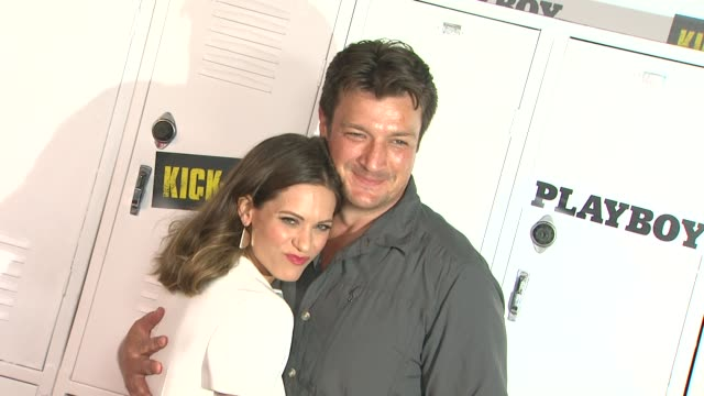 Nathan Fillion Lyndsy Fonseca at Playboy And Universal Pictures' KickAss 2 Event At ComicCon Sponsored By AXE Black Chill on 7/20/2013 in San Diego CA