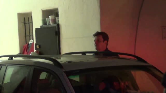 Nathan Fillion outside Cat and Fiddle Restaurant in Hollywood at Celebrity Sightings in Los Angeles Nathan Fillion outside Cat and Fiddle Restaurant...