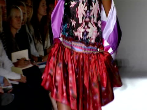 london fashion week s/s 2010 / anamorphic at the nathan jenden london fashion week s/s 2010 at london england - anamorphic stock videos and b-roll footage