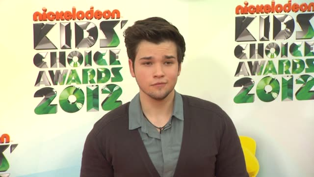 nathan kress at nickelodeon's 25th annual kids' choice awards on 3/31/2012 in los angeles, ca. - nickelodeon stock videos & royalty-free footage