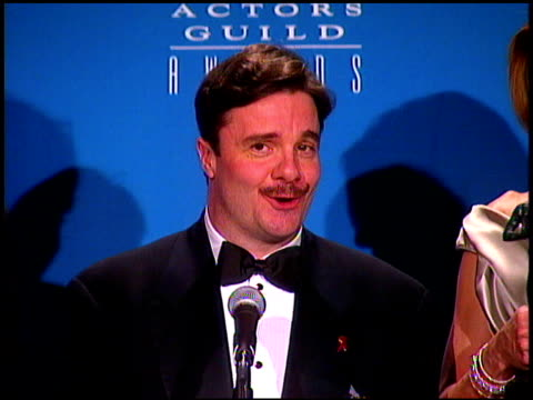 Nathan Lane at the Screen Actor's Guild Awards at the Shrine Auditorium in Los Angeles California on February 22 1997