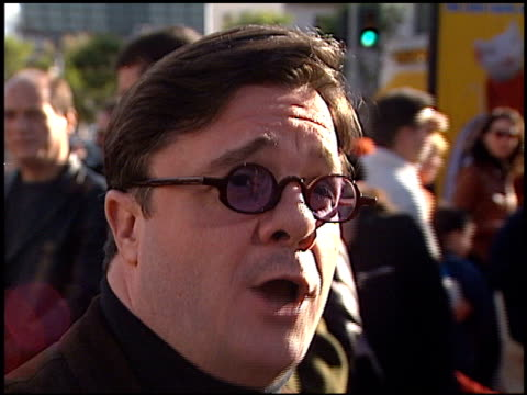 nathan lane at the 'stuart little' premiere at the mann village theatre in westwood, california on december 5, 1999. - nathan lane stock videos & royalty-free footage
