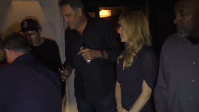 nathan lane & brad garrett sign for fans after dinner at craig's restaurant in west hollywood on august 7, 2019 at celebrity sightings in los angeles. - nathan lane stock videos & royalty-free footage