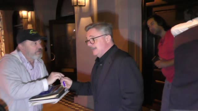 nathan lane discusses national coming out day outside craig's in west hollywood at celebrity sightings in los angeles on october 11, 2019 in los... - nathan lane stock videos & royalty-free footage