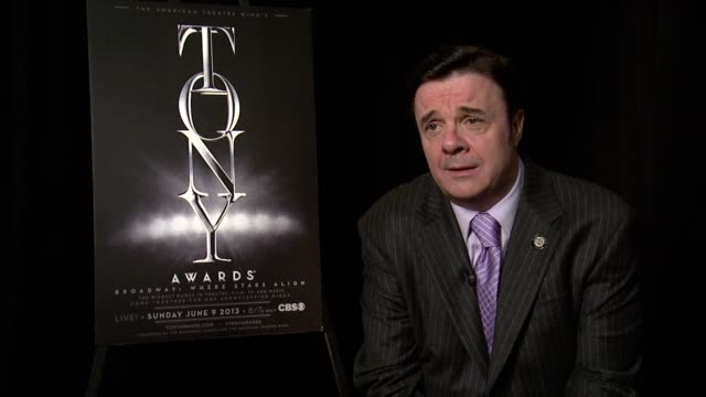 """nathan lane on his nomination for best performance in """"the nance"""" at 2013 tony awards meet the nominees press reception at millenium hotel on may 01,... - nathan lane stock videos & royalty-free footage"""