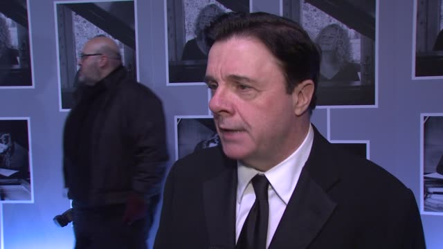 """nathan lane on how he's met carole king, on why her catalogue of work makes this a great musical at """"beautiful - the carole king musical"""" broadway... - nathan lane stock videos & royalty-free footage"""