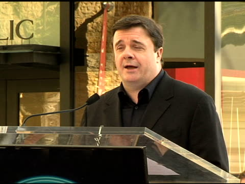 nathan lane on receiving his star at the dedication of matthew broderick and nathan lane's double star on the hollywood walk of fame at hollywood... - matthew broderick stock videos & royalty-free footage