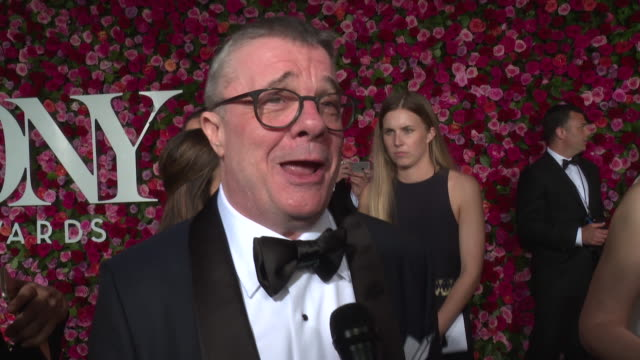 interview nathan lane talks about his most memorable tony awards story on what he is looking forward to tonight 2018 tony awards red carpet at radio... - annual tony awards stock videos & royalty-free footage