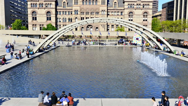 nathan phillips square timelapse in a sunny summer day - 1965 stock videos & royalty-free footage