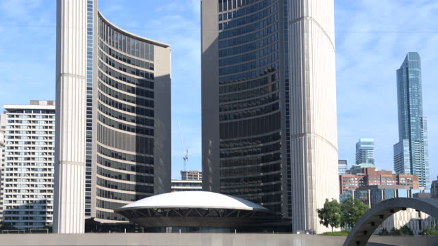 nathan phillips square, toronto, canada - zigzag stock videos & royalty-free footage
