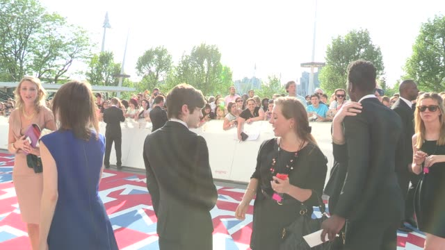 nathan stewart-jarrett at arqiva british academy television awards at the national theatre on may 27, 2012 in london, england - 英国アカデミー賞テレビ部門点の映像素材/bロール