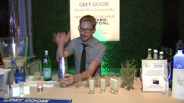nathaniel oliver on what he prepared for the evening at a taste of the world presented by breeders' cup grey goose vodka on 11/2/2012 in pasadena ca - grey goose vodka stock videos & royalty-free footage