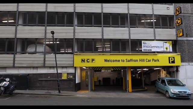 nation car parks ltd. saffron hill car garage in london, england, u.k., on thursday, march 18, 2021. - western script stock videos & royalty-free footage