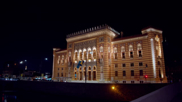 ws national and university library of bosnia and herzegovina - bosnia and hercegovina stock videos & royalty-free footage