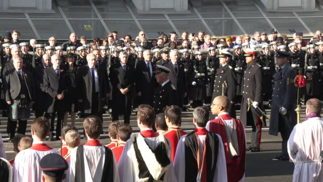 national anthem at the national service of remembrance on november 10 2019 in london england - memorial stock videos & royalty-free footage
